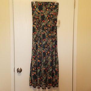 NWT'S Lularoe Floral Maxi Skirt Size XS